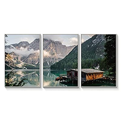That You Will Love, Astonishing Picture, Floating Framed for Living Room Bedroom Landscape Gorge Mountain River Grassland for x3 Panels
