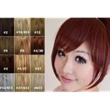 X&Y ANGEL Girl's One Piece Hair Extensions Fashion Front Fringe Bangs/fringes Clip In On (#2/33(dark brown))