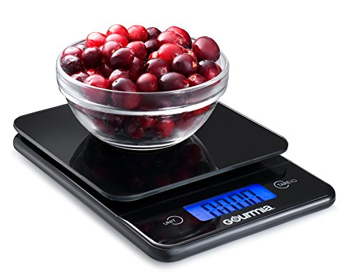 Gourmia-GKS9115-Digital-Kitchen-Scale-Tempered-Glass-Food-Scale-with-Easy-Read-Extra-Large-LCD-Touchscreen-Display-Tare-Function-5kg-11lb-Capacity-Measures-215-x-45-x-245-cm