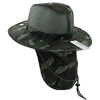 ccb128b3515 JFH Wide Brim Bora Booney Outdoor Safari Summer Hat w Neck Flap   Sun  Protection