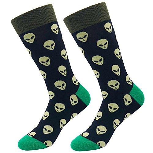KoolHour Men's Alien Socks ET Novelty Funny Crazy