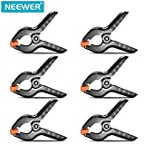 "Neewer® 6-Pack Set Heavy Duty Muslin Spring Clamps Clips 3.75""for Photo Studio Backdrops Backgrounds Woodworking"