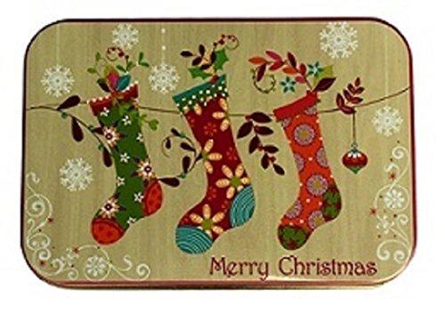 [해외]크리스마스 선물 카드 깡통 상자 Hanging Stockings and Wonderful Christmas 3 Pack/Christmas Gift Card Tin Box Hanging Stockings and Wond