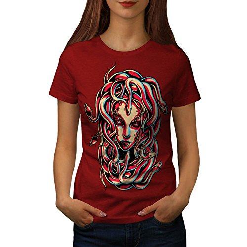 Medusa Queen Snake Viper Hair Women XL T-shirt | Wellcoda ()