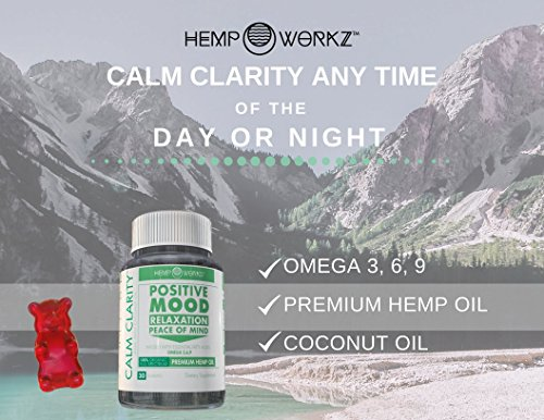 Hemp-Workz-Calm-Clarity-Premium-Hemp-Gummy-Bears-with-Coconut-Oil-Omega-36-9-Positive-Mood–Relaxation–Peace-Of-Mind-10mg-Each-30-Gummies