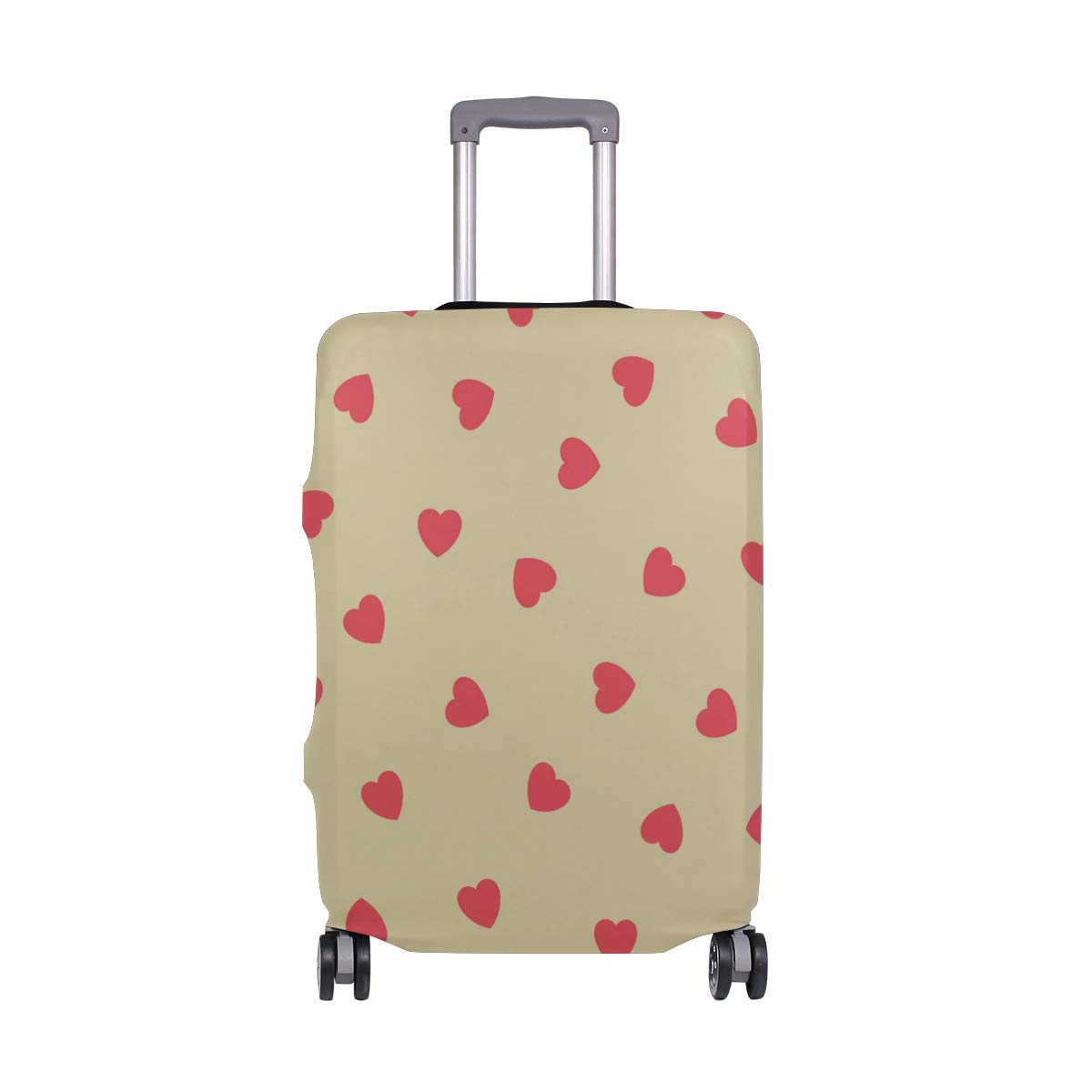 Baggage Covers Red Love Heart Pattern Romantic Washable Protective Case