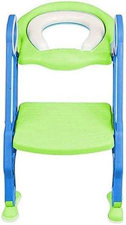 Kinshops Asiento de Entrenamiento para Inodoro Plegable para bebés y niños pequeños con Escalera Ajustable Asientos de Entrenamiento portátiles para Orinal: Amazon.es: Hogar