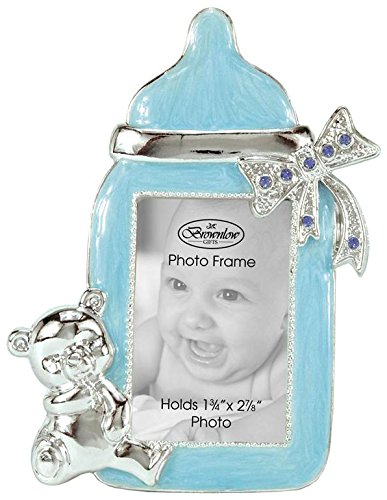 Brownlow Gifts Baby Boy Bottle Frame Blue