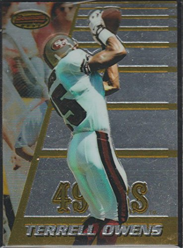 1996 Bowman's Best Terrell Owens 49ers Rookie Football Card #147