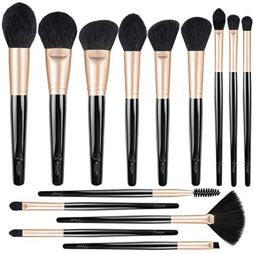 BESTOPE Professional Makeup Brushes without Shed Premium Synthetic Foundation Brush Set Kit for Blending Powder Blush Concealer Highlighter Eyeshadows