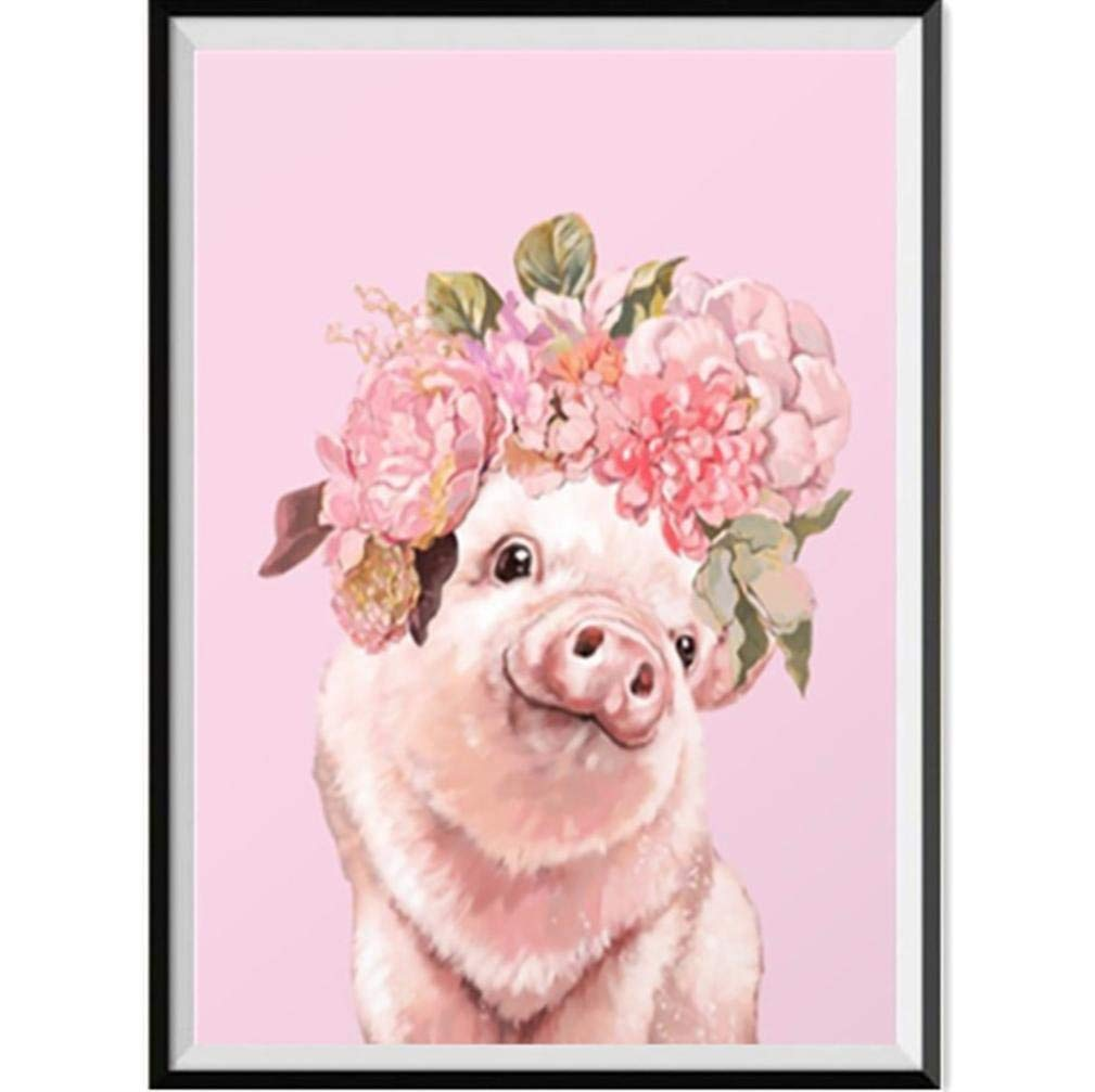 Cute Pig Wall Art Decor Cross Stitch Kit Crystals 5D Embroidery Diamond Painting for Kids DIY Pictures Craft Home Decor Staron  DIY 5D Diamond Painting A