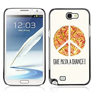 Designer Depo Hard Protection Case for Samsung Galaxy Note 2 N7100 / Cool Pizza Piece