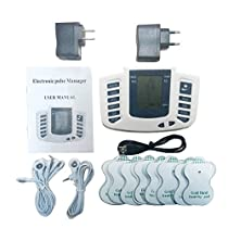 TENS MACHINE Electrical Stimulator Full Body Relax Muscle Stimulator for Electrotherapy Pain Management 16 Pads (Normal)