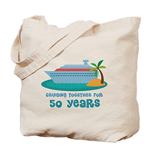 CafePress 50Th Anniversary Cruise Natural Canvas Tote Bag, Cloth Shopping ()