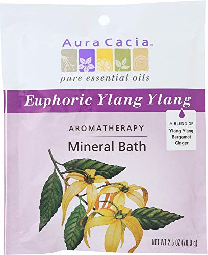 Aura Cacia (NOT A CASE) Aromatherapy Mineral Bath Euphoria Ylang - Aromatherapy Bath Mineral Euphoria