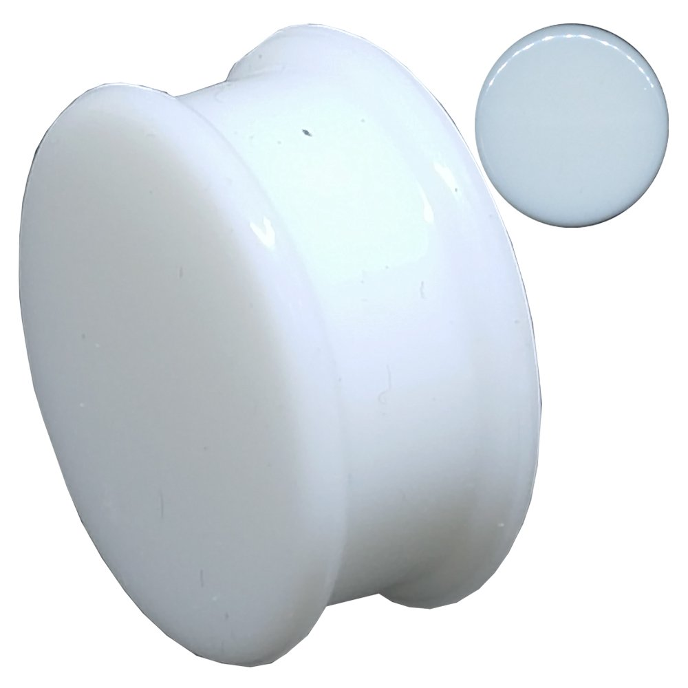 White Silicone Solid Ear Piercing Plugs Gauges Sold Pair GS2W