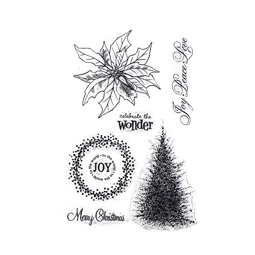 Image Tree Stamp (Decora Merry Christmas Clear Stamps for Showing Your Best Christmas Wishes)