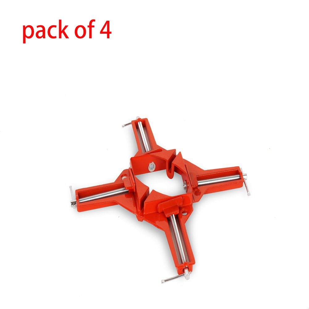 Angle Clamp 4Pcs 3.3 Inch 90 Degree Right Angle Corner Holder Clamp Multifunctional Picture Framing Holder, Woodworking Hand Tools by jctkfts