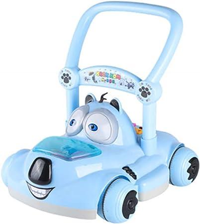 GUO@ Enfant en Bas /âGe Walker Chariot Voiture De Jouet De Musique Multi-Fonction De B/éB/é Jouet /à Pousser 10-18 Mois Marcheur Assist/é Anti-Renversement