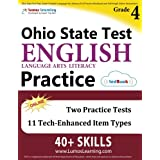 Ohio State Test Prep: Grade 4 English Language Arts Literacy (ELA) Practice Workbook and Full-length Online Assessments: OST Study Guide