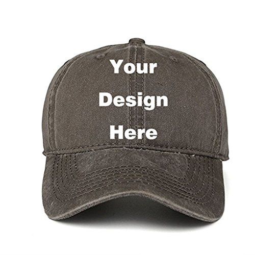 - Fashion Sun Visor Hats Personalized Customized Trucker Hats Unisex Baseball Caps Summer Cowboy Hats (Coffee)