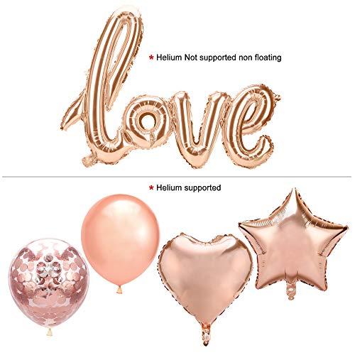 MR /& MRS Folienballon rose gold 145 x 32cm Hochzeitsdeko XXL Ballons rosa