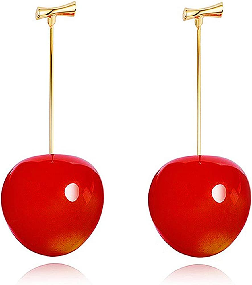 Wowanoo Cherry Earring Fruit Drop Dangle for Women