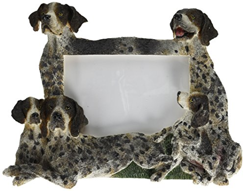 German Short Hair Pointer Picture Frame Holds Your Favorite 3 by 5 Inch Photo, Hand Painted Realistic Looking German Short Hair Pointer Family Surrounding  Your Photo. This Beautifully Crafted Frame, Is A Unique Accent To Any Home or Office. The German Short Hair Pointer Is The Perfect Gift For German Short Hair Pointer Owners And Lovers!