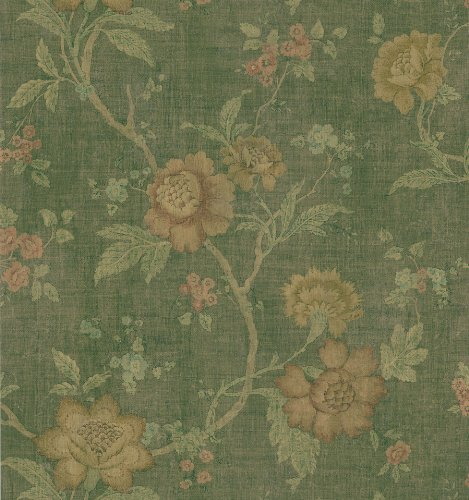 Brewster 280-70541 Beacon House Intrigue Floral Trail Wallpaper, 20.5-Inch by 396-Inch, -