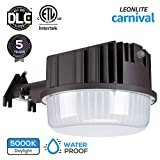 LEONLITE Dusk to Dawn LED Outdoor Barn Light, Waterproof Area Floodlight with Photocell,DLC & ETL Listed, 80W (800W Equiv.), 5000K Daylight, for Yards, Barns, Parking Lots, Garages, 5 Years Warranty