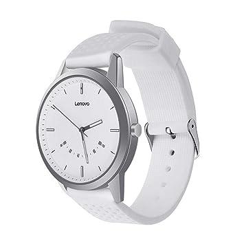 Reloj Inteligente Goodbenemall Lenovo Watch9 Bluetooth 5 ATM Resistente al Agua podómetro Ritmo cardíaco Reloj Inteligente, Blanco: Amazon.es: Deportes y ...