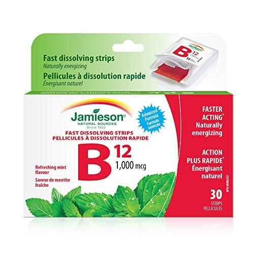 Jamieson Vitamin B12 1,000 mcg fast dissolving strips, 30 strips