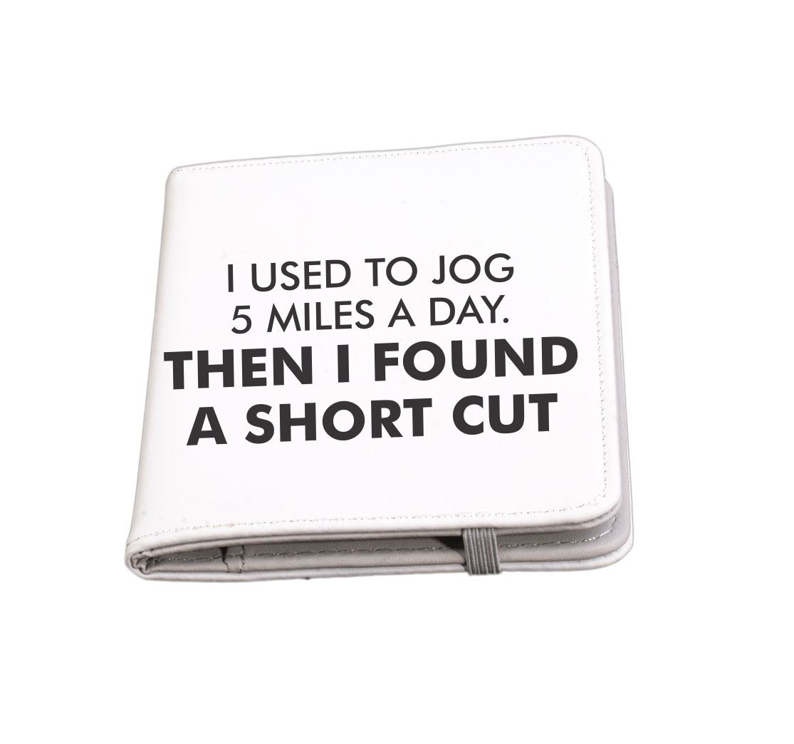 Rikki Knight I used to jog then found a short cut Funny Quotes Passport Holder with slots for Travel documents
