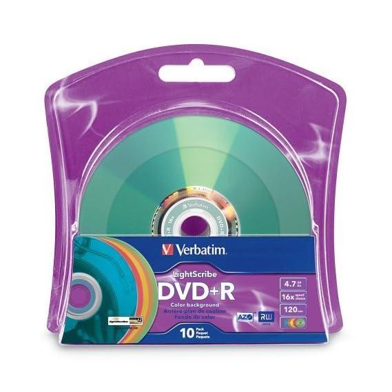 Verbatim 16x DVD+R LightScribe Assorted Color Blank Media