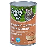 22 Oz (Pack of 24), Special Kitty Classic Pate Chunky Chicken & Tuna Dinner Wet Cat Food