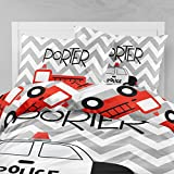 Personalized Bedding Custom Bedspread Chevron Firetruck and Police