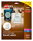 Avery Print-To-The Edge Round Labels, Glossy