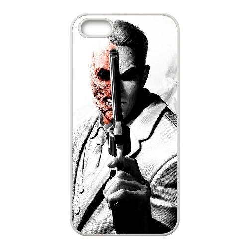 Two Face 001 coque iPhone 4 4S cellulaire cas coque de téléphone cas blanche couverture de téléphone portable EOKXLLNCD20553