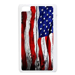Cheap iPod Touch 4 Case, Usa Vintage Flags quote New Fashion Cover Case