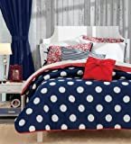 MARINERO Bedding Collection - Reversible Comforter Set, Embroidered Microfiber Sheet Set and Window Panels (TWIN)