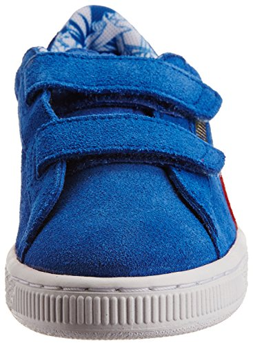 Puma Suede Superman V Kids - zapatilla deportiva de cuero infantil Bleu (Strong Blue/Red/Buttercup)