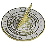 1st Wedding Anniversary Sundial Gift