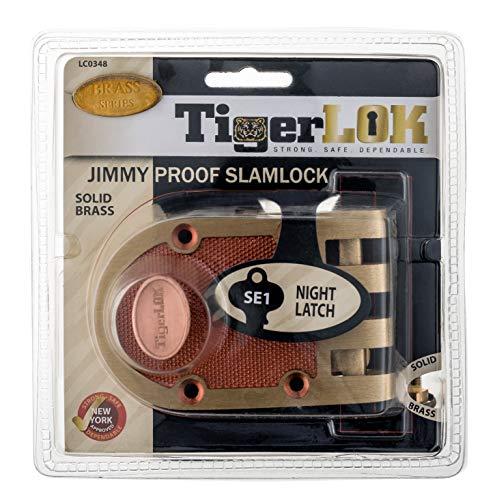 TIGERLOK (Like SEGAL) Jimmy Proof Automatic Deadlocking Slam Lock Single Cylinder Lock Set with 5 ()
