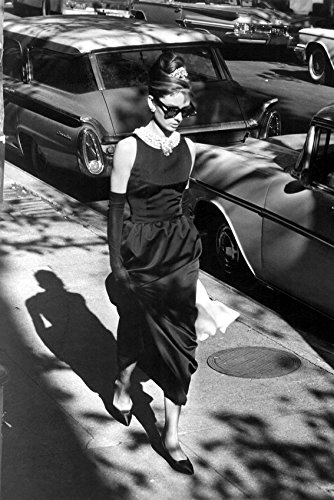 Audrey Hepburn classic in sunglasses as Holly Golightly Breakfast at Tiffanys 18x24 -