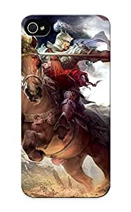Awesome 98f362f4952 Crooningrose Defender Tpu Hard Case Cover For Iphone 5/5s- Heroes Of The Three Kingdoms Fantasy Art Warriors Knight Armor Weapons Blood Bale Horses