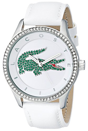 lacoste-womens-2000893-victoria-stainless-steel-watch-with-white-leather-band