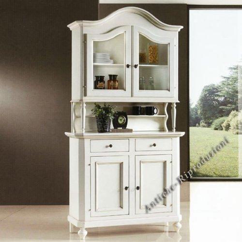 Möbel Buffet, Buffetschrank, Küchenbuffet, cm 112x45, h 220 - Holz, Klassisch, Italienischer Produktion