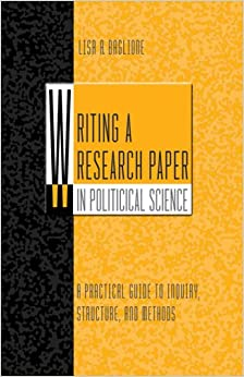 Writing a research paper in political science baglione pdf