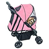 Pet Gear Happy Trails Pet Stroller for cats and dogs up to 30-pounds, Pink Ice, My Pet Supplies