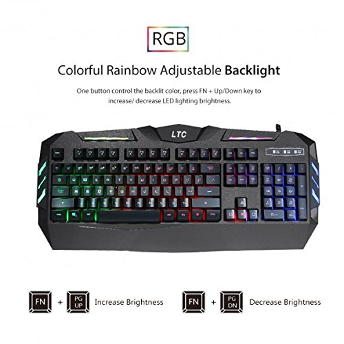51tTsEZRTAL - LeaningTech-LTC-K902-Rainbow-RGB-Backlit-19-key-Anti-Ghosting-Waterproof-USB-Wired-Mechanical-Feeling-Office-Gaming-Keyboard--US-Layout
